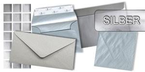 Silberne Briefumschläge
