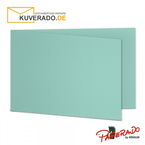 Paperado Karten in karibik blau DIN B6 Querformat
