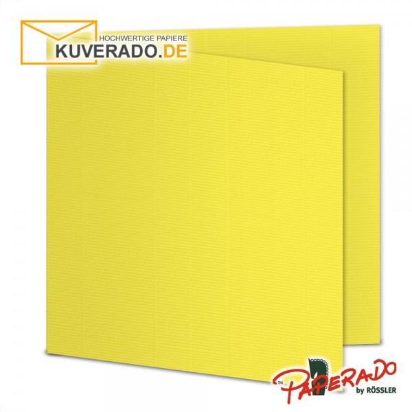 Paperado Karten in soleilgelb quadratisch