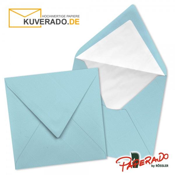 Paperado quadratische Briefumschläge in aquablau 164x164 mm