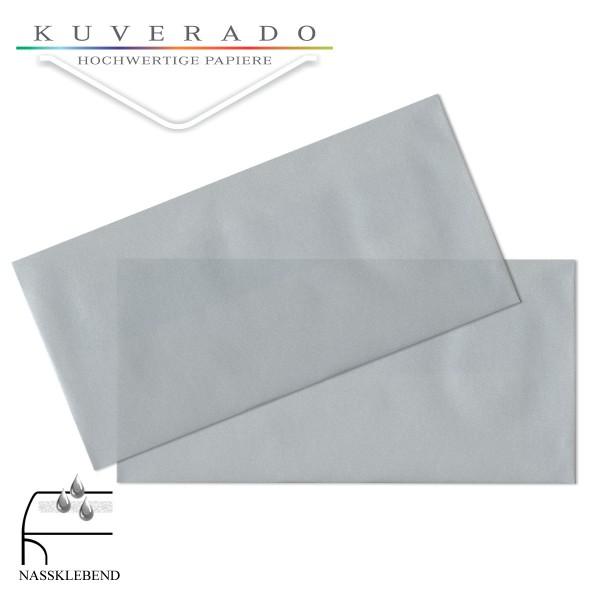 transparente Briefumschläge DIN lang in silber