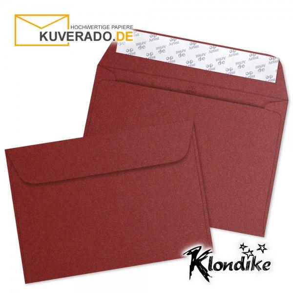Artoz Klondike Briefumschlag in rubin-rot-metallic DIN C6