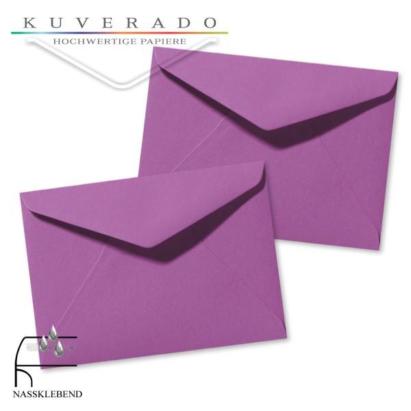 Lila Briefumschläge (violett) im Format 110 x 156 mm