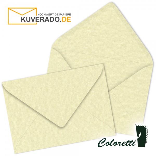 Beige marmorierte DIN B6 Briefumschläge in sandgelb von Coloretti