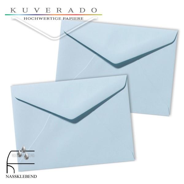 blaue Briefumschläge im Format 130 x 180 mm
