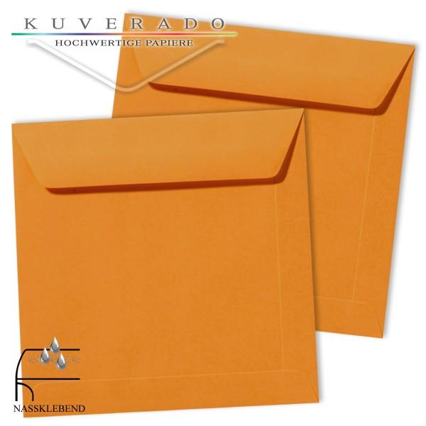 orange Briefumschläge im Format quadratisch 190x190 mm