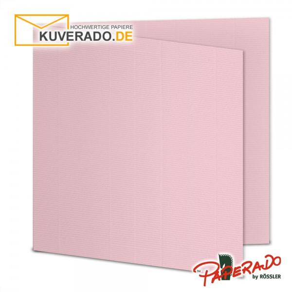 Paperado Karten in flamingo rosa quadratisch