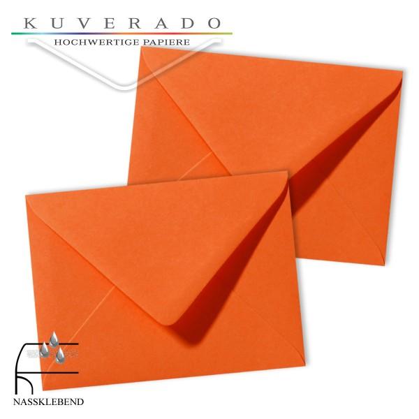 orange Briefumschläge im Format 130 x 180 mm