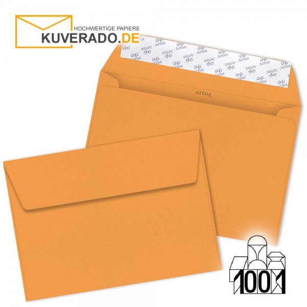 Artoz Briefumschläge mango-orange DIN C5