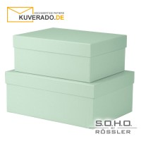 """S.O.H.O. Geschenkschachteln, 2er-Set in der Farbe """"mint"""""""