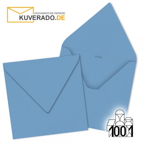 Artoz 1001 Briefumschläge marienblau quadratisch 135x135 mm