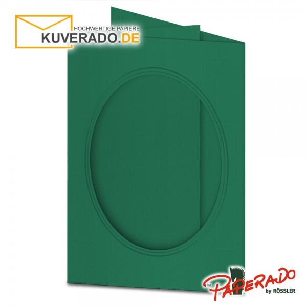 Paperado Passepartoutkarten mit ovalem Ausschnitt in tannengrün DIN B6