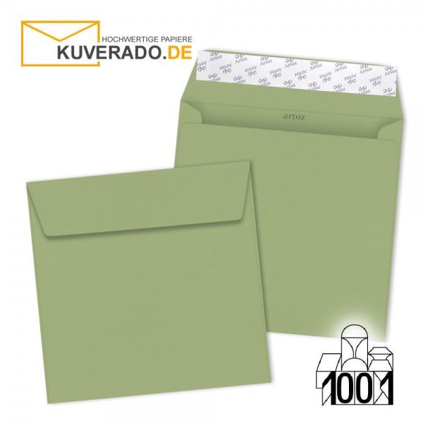 Artoz 1001 Briefumschläge lindgrün quadratisch 160x160 mm