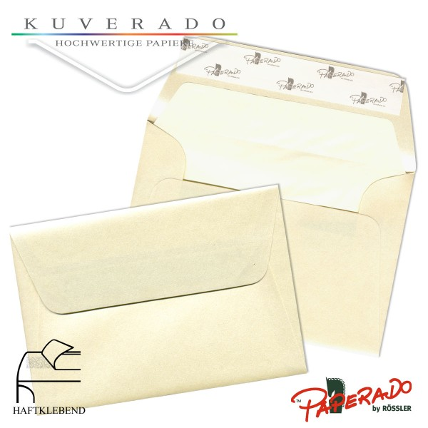 Paperado Briefumschläge in chamois / candle light DIN B6
