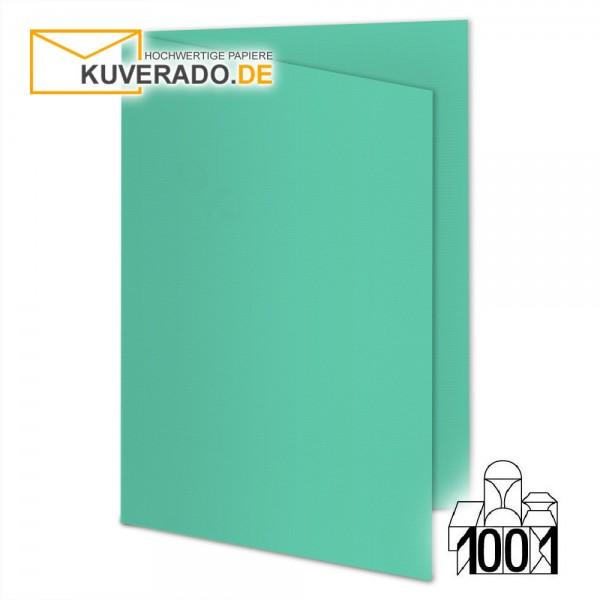 Artoz 1001 Faltkarten smaragdgrün DIN A6 mit Wasserzeichen