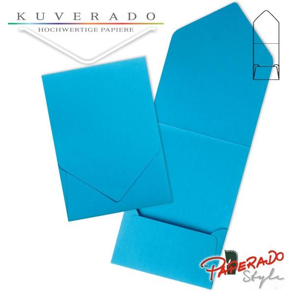 PAPERADO Style - Aufklappkarte in pacificblau