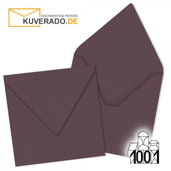 Artoz Briefumschläge dunkelrot quadratisch 135x135 mm