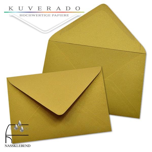 glänzende metallic Briefumschläge in gold im Format 120 x 180 mm