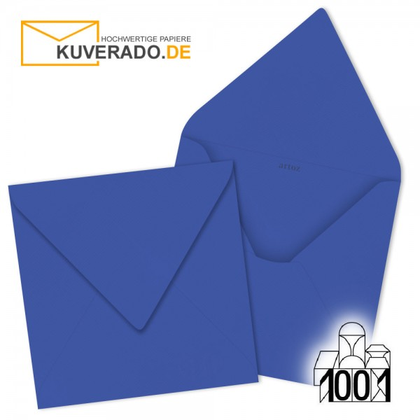 Artoz 1001 Briefumschläge majestic-blue quadratisch 135x135 mm