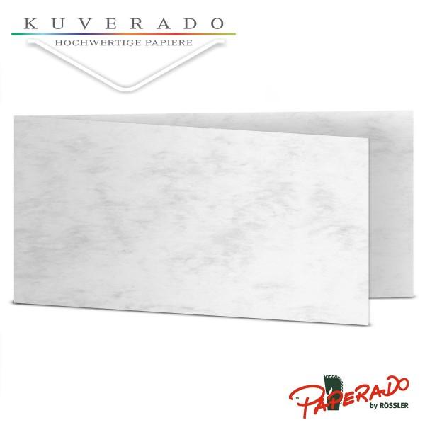 Paperado Karten in grau marmoriert DIN lang Querformat