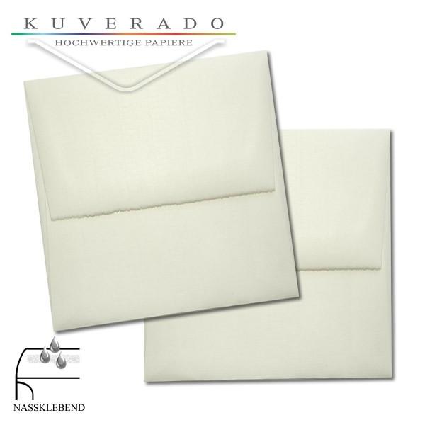 quadratische Briefumschläge aus Büttenpapier im Format 125x125 mm
