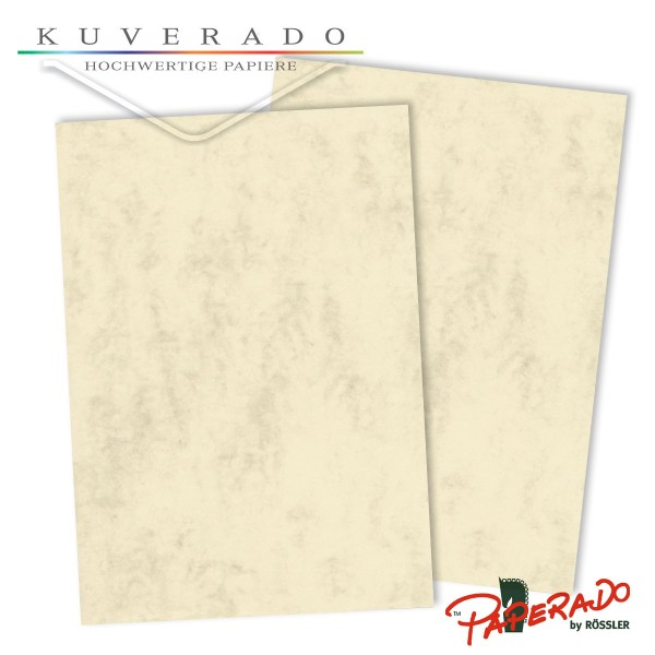 Paperado Briefkarton in chamois marmoriert DIN A4 220 g/qm