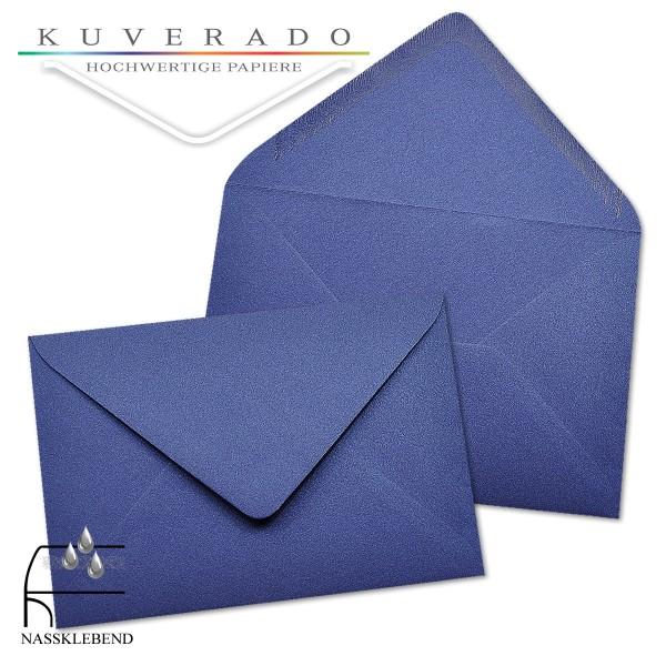 glänzende metallic Briefumschläge in blau im Format 120 x 180 mm