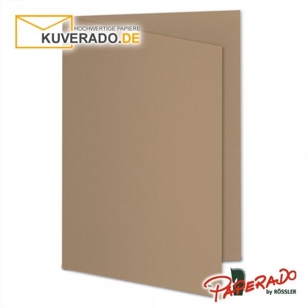 Paperado Karten in haselnuss braun DIN A5