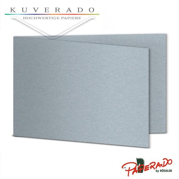 Paperado Karten in silber DIN B6 Querformat