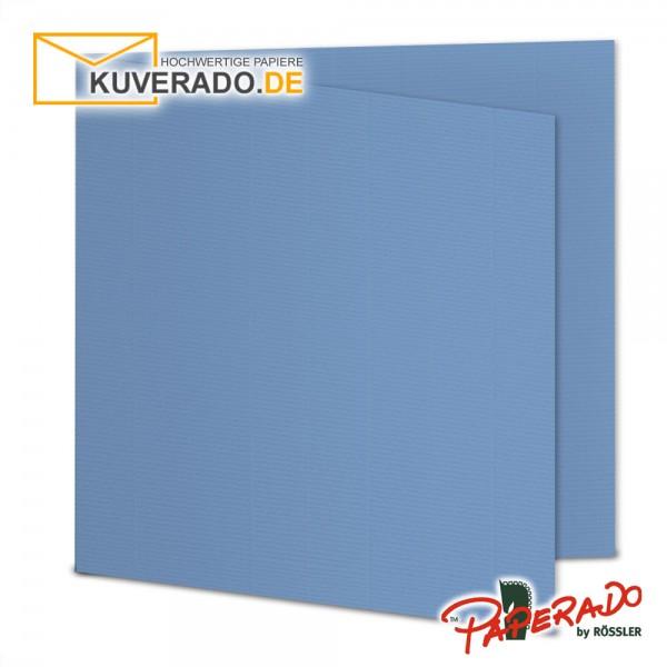 Paperado Karten in blau quadratisch