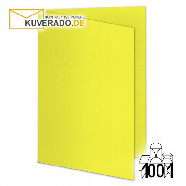 Artoz 1001 Faltkarten maisgelb DIN A5 mit Wasserzeichen