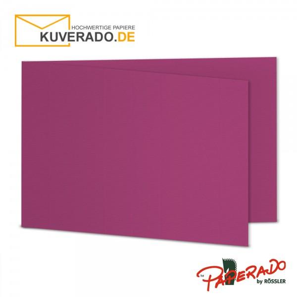 Paperado Karten in amarena lila DIN B6 Querformat