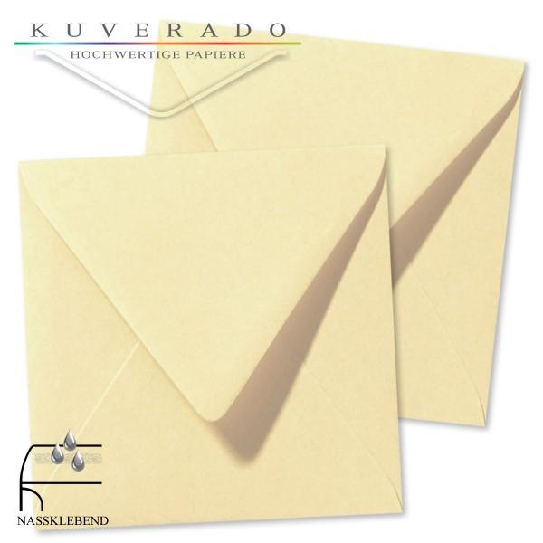 Beige Briefumschläge (Chamois) im Format quadratisch 160x160 mm