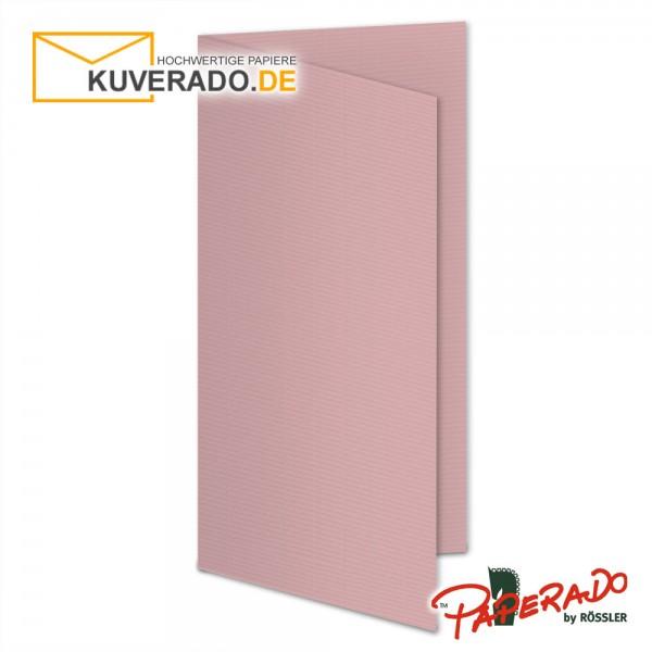 Paperado Karten in rose / rosa DIN lang