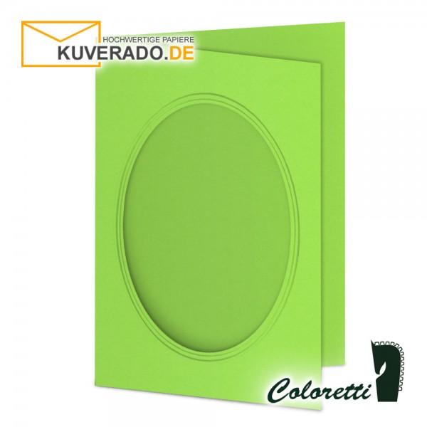 Grüne Passepartoutkarten in 220 g/qm von Coloretti
