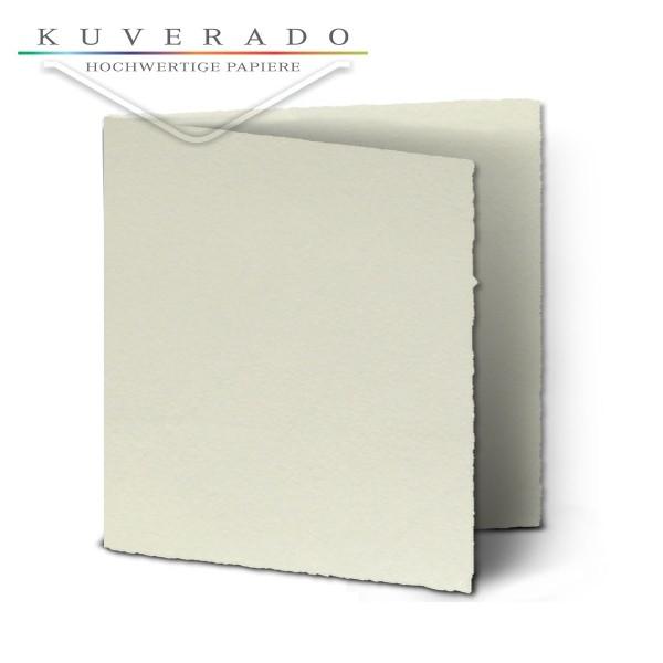 Büttenpapier Karten quadratisch