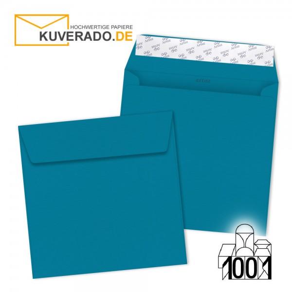 Artoz 1001 Briefumschläge petrol-blau quadratisch 160x160 mm