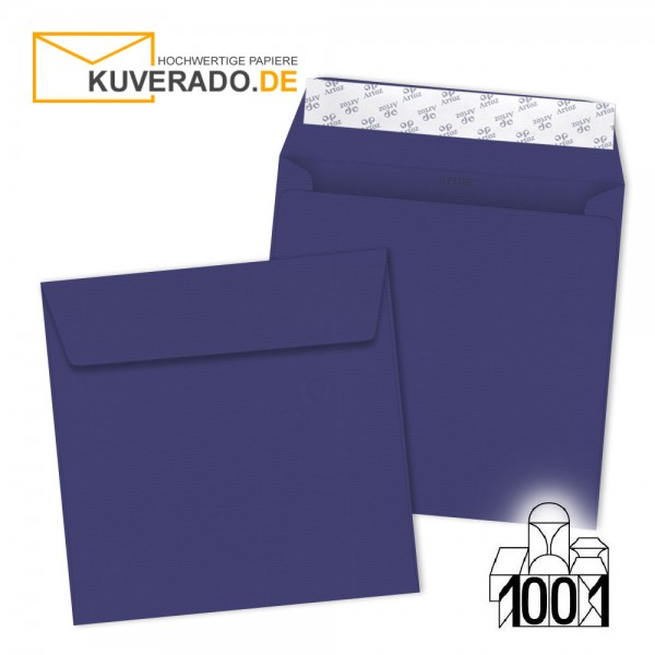 Artoz 1001 Briefumschläge indigo blau quadratisch 160x160 mm