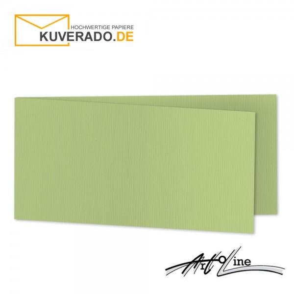 Artoz Artoline Karten/Doppelkarten in pistache-grün DIN lang