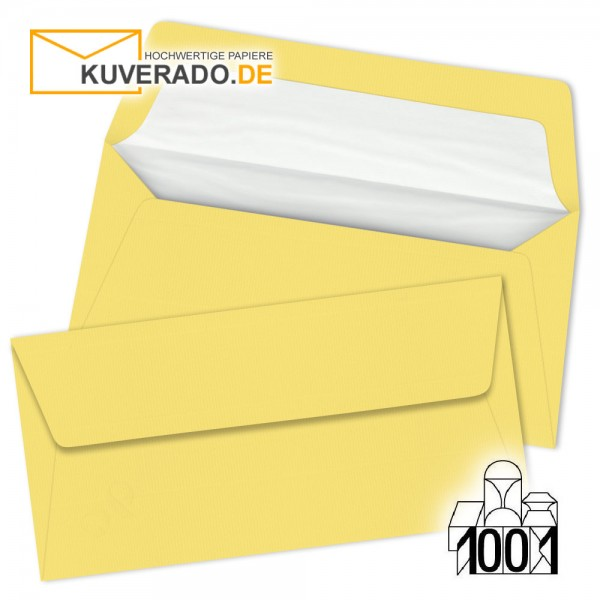 Artoz 1001 Briefumschläge lichtgelb DIN lang