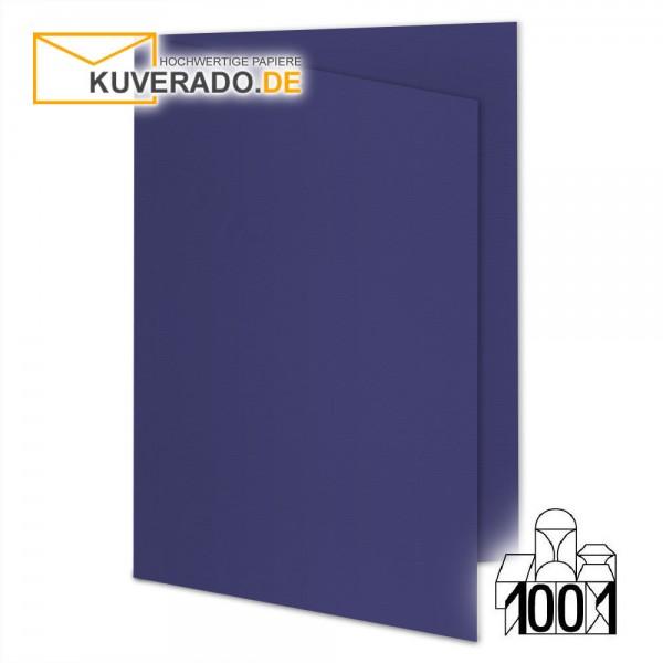 Artoz 1001 Faltkarten indigoblau DIN A6 mit Wasserzeichen
