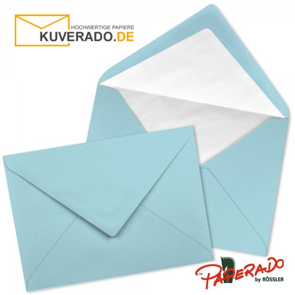 Paperado Briefumschläge in aqua blau DIN C7