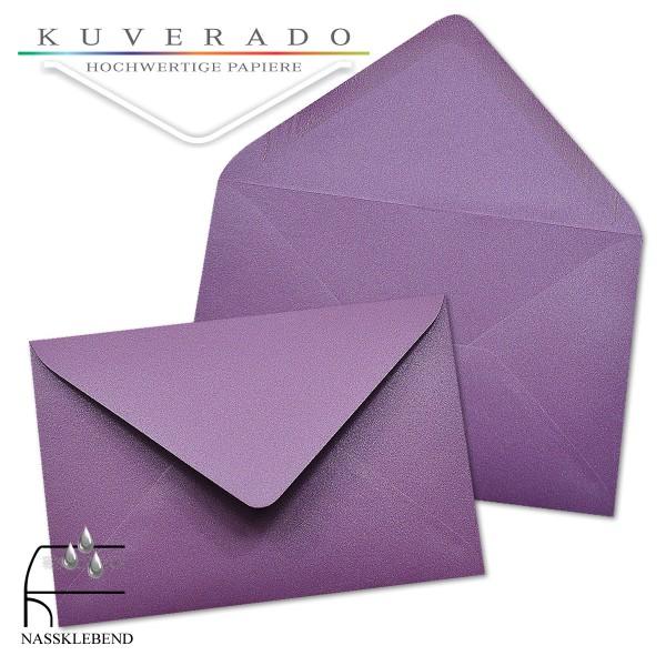 glänzende metallic Briefumschläge in lila im Format 120 x 180 mm