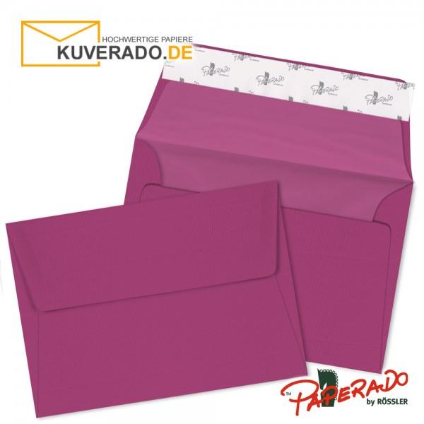 Paperado lila farbene Briefumschläge in DIN C6