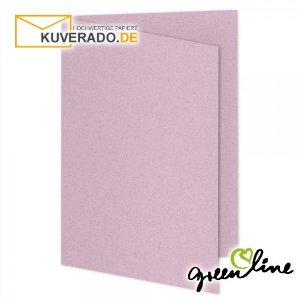 ARTOZ Greenline pastell | Recycling Faltkarten in misty-rose DIN A5