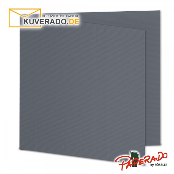Paperado Karten in schiefer grau quadratisch
