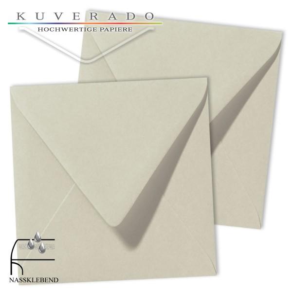 Graue Briefumschläge (delfingrau) im Format quadratisch 140x140 mm