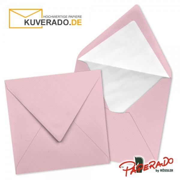 Paperado quadratische Briefumschläge in flamingo rosa 164x164 mm