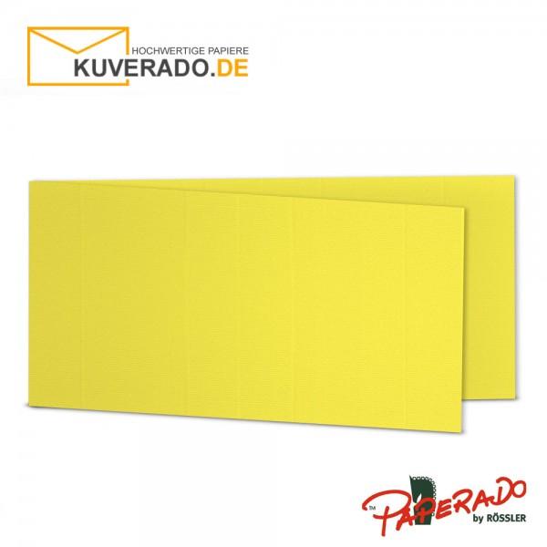 Paperado Karten in soleilgelb gelb DIN lang Querformat