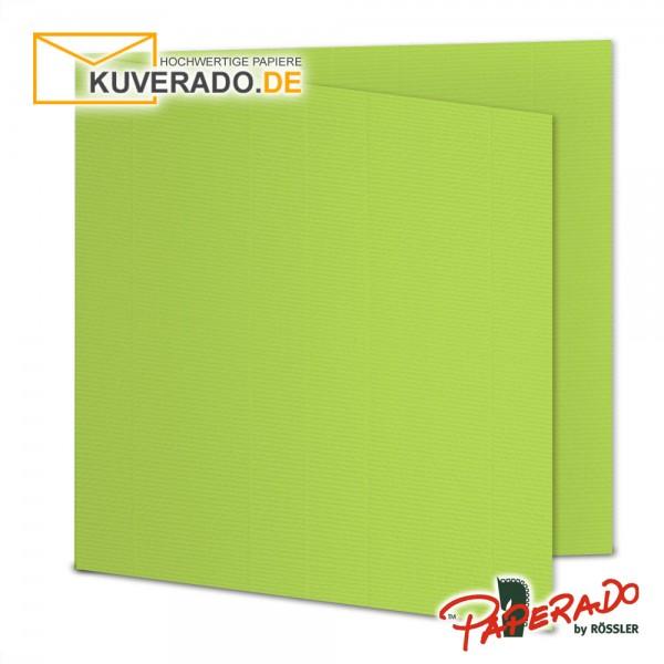 Paperado Karten in maigrün quadratisch